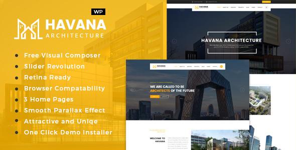 Havana - قالب وردپرس معماری و طراحی داخلی