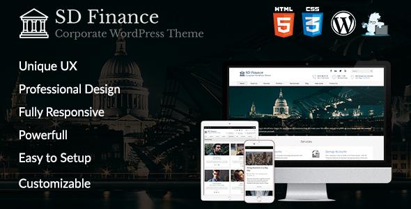 قالب SD Finance - قالب وردپرس شرکتی