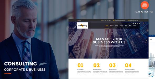 قالب Consulting - قالب وردپرس شرکتی و کسب و کار