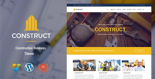 قالب Construct - قالب وردپرس ساخت و ساز
