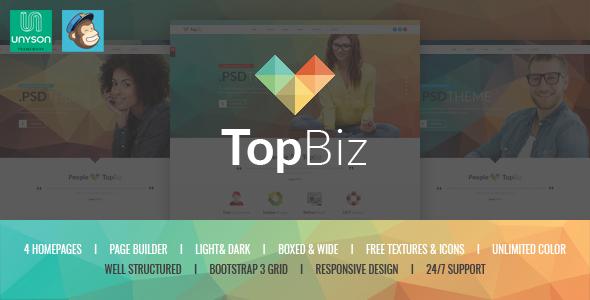 قالب TopBiz - قالب وردپرس شرکتی