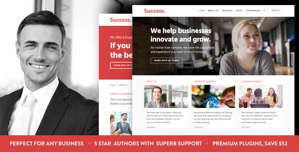 قالب Success - قالب وردپرس کسب و کار و خدمات حرفه ای
