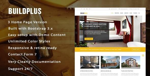 قالب BuildPlus - قالب وردپرس ساخت و ساز و نوسازی