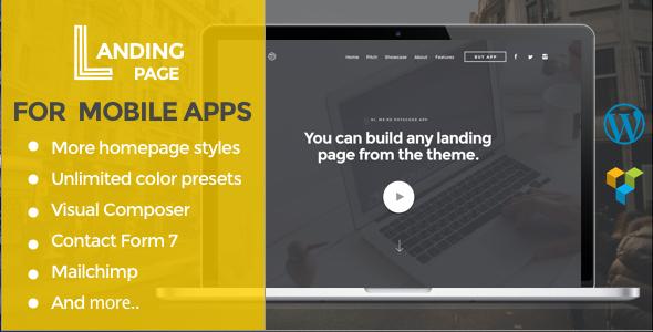 قالب صفحه فرود اپلیکیشن موبایل | Mobile App Landing Page - قالب وردپرس