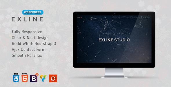قالب اکسلاین | Exline - قالب وردپرس چند منظوره تک صفحه ای