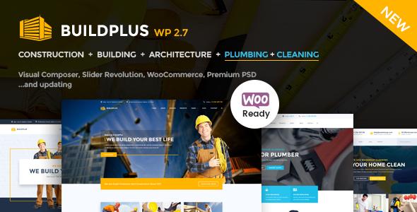 قالب Construction WordPress - قالب وردپرس سایت ساختمان سازی