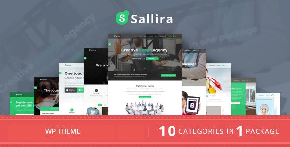قالب Sallira - قالب وردپرس کسب و کار استارتاپ