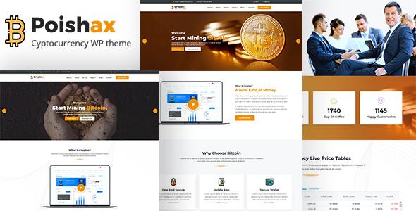 قالب Poishax - قالب وردپرس سایت ارز دیجیتال