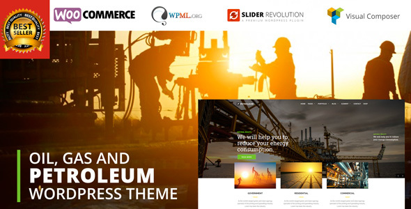 قالب Petroleum - قالب وردپرس نفت، گاز و شیمیایی