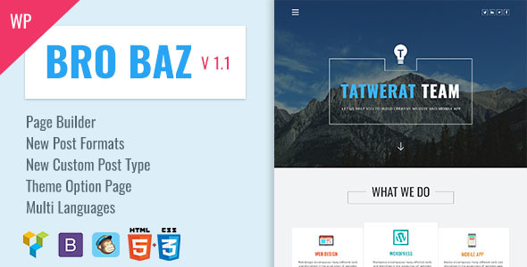قالب BroBaz - قالب وردپرس سایت شرکتی