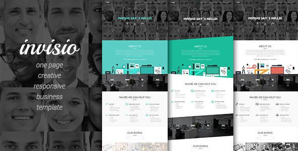 قالب Invisio Business - قالب تک صفحه ای خلاقانه