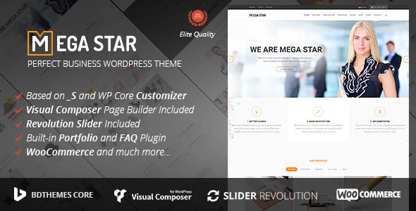 قالب Megastar - قالب وردپرس کسب و کار