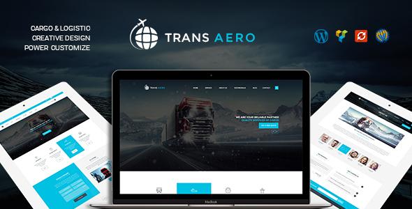 قالب TransAero - قالب وردپرس شرکت حمل و نقل