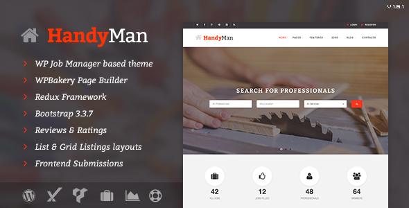 قالب Handyman - قالب وردپرس مشاغل