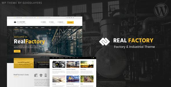 قالب رئال فکتوری | Real Factory - قالب وردپرس چند منظوره حرفه ای