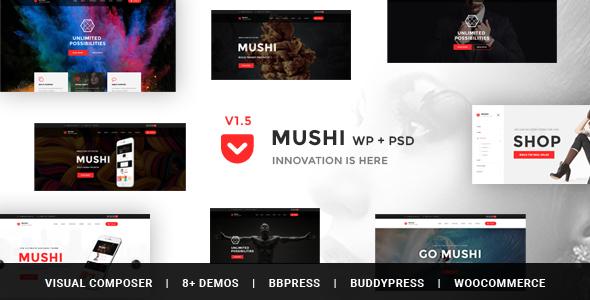 قالب Mushi - قالب وردپرس فروشگاهی چند منظوره