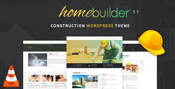 قالب HomeBuilder - قالب وردپرس ساخت و ساز ساختمان