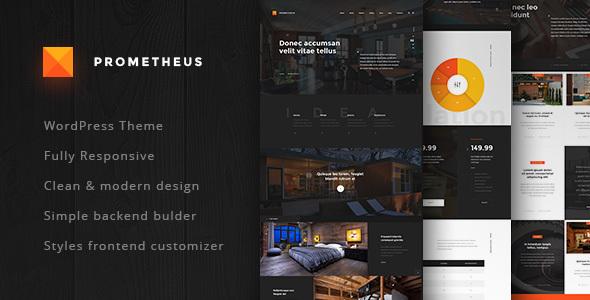 قالب Prometheus - قالب وردپرس برای معماران