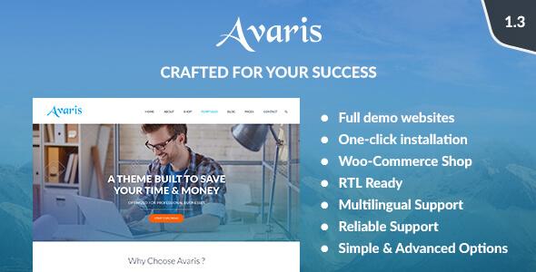 قالب Avaris - پوسته چند منظوره وردپرس