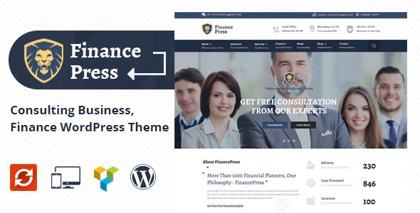 Finance Press - قالب وردپرس مشاوره کسب و کار و امور مالی
