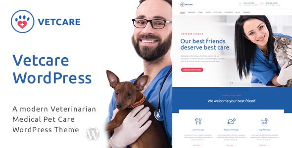 قالب Vetcare Medical - قالب وردپرس پزشک حیوانات و دامپزشکی