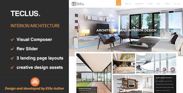 قالب Teclus - قالب وردپرس معماری و نوسازی