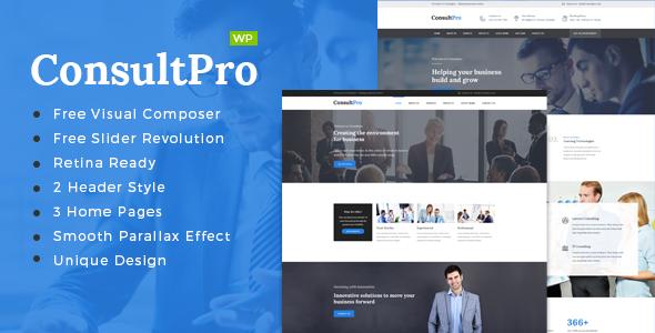قالب ConsultPro - قالب وردپرس کسب و کار، مالی و مشاوره