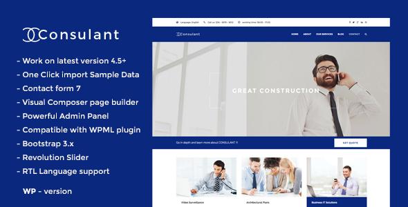 قالب Consulant - قالب وردپرس شرکتی و کسب و کار