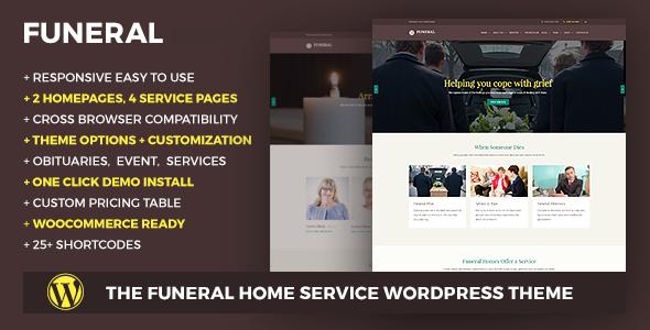 قالب Funeral - قالب وردپرس سایت خدماتی
