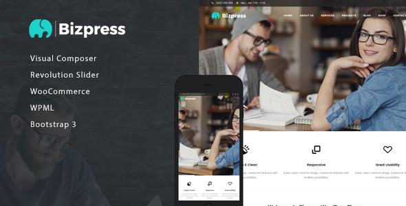قالب BizPress - قالب شرکتی وردپرس