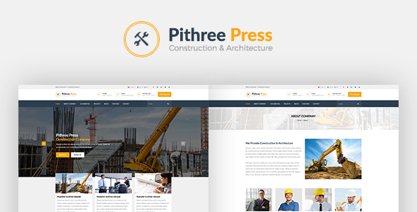 Pithree - قالب وردپرس ساخت و ساز ساختمان