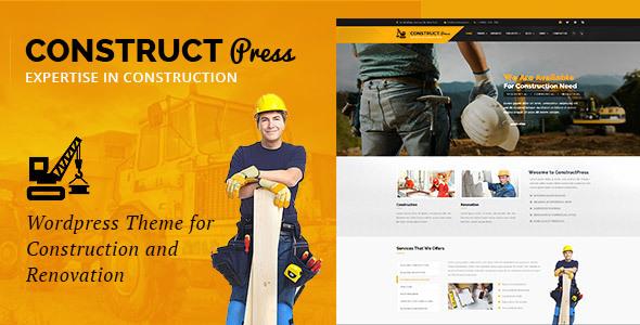 Construct Press - قالب وردپرس ساخت و ساز و نوسازی