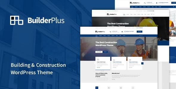 قالب BuilderPlus - قالب وردپرس ساخت و ساز ساختمان