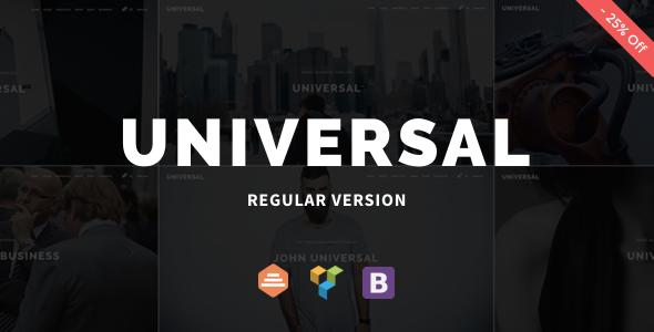 قالب Universal - قالب سایت شرکتی