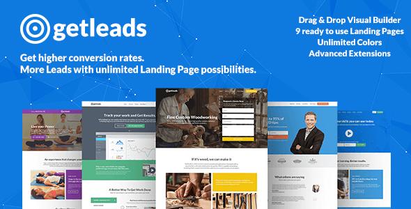 قالب Getleads - قالب وردپرس صفحه لندینگ