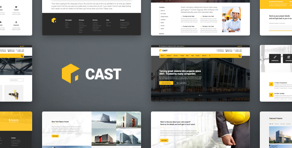 قالب Cast - قالب وردپرس ساخت و ساز ساختمان