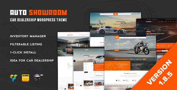 قالب Auto Showroom - قالب سایت نمایندگی اتومبیل