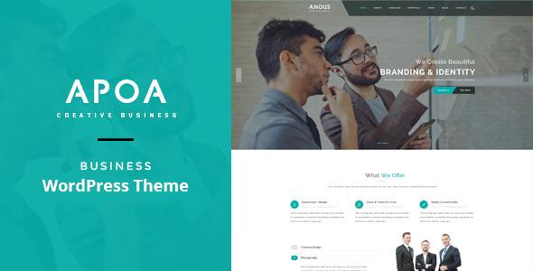 قالب Apoa - قالب وردپرس کسب و کار