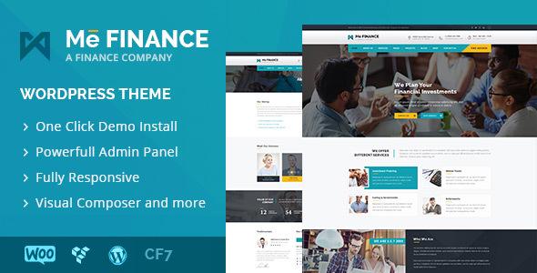 Me Finance - قالب وردپرس کسب و کار و سرمایه گذاری