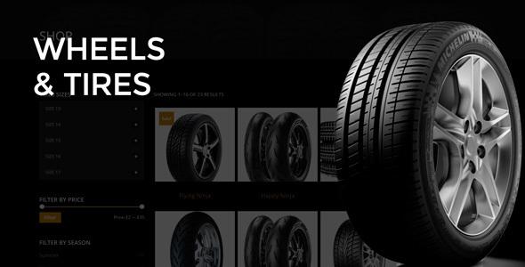 قالب چرخ و لاستیک | Wheels & Tires - قالب وردپرس
