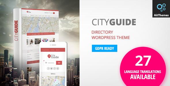 قالب City Guide - قالب وردپرس ثبت آگهی