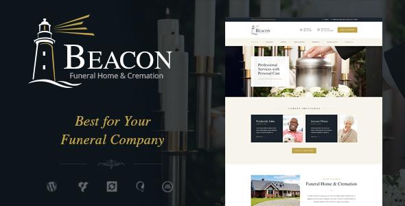قالب Beacon - قالب وردپرس خدمات خاکسپاری