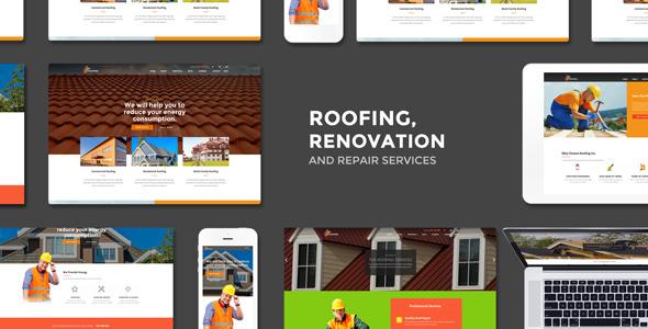 قالب Roofing - قالب وردپرس خدمات تعمیری