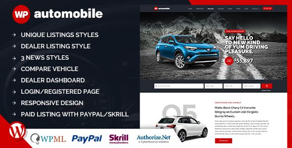 قالب AutoMobile - قالب وردپرس فروش ماشین