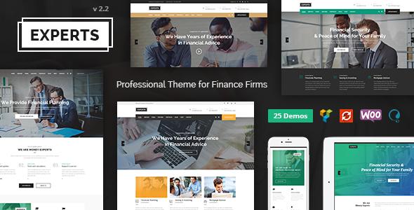 قالب Finance Experts - قالب وردپرس کسب و کار