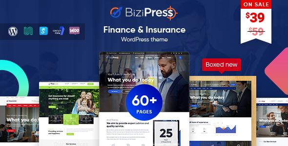 قالب BiziPress - قالب وردپرس بیمه و امور مالی