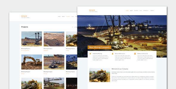 قالب Miner - قالب وردپرس صنعتی