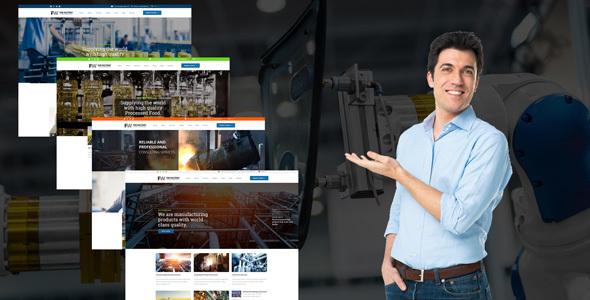 قالب Manufacturing - قالب وردپرس کارخانه و تجارت صنعتی