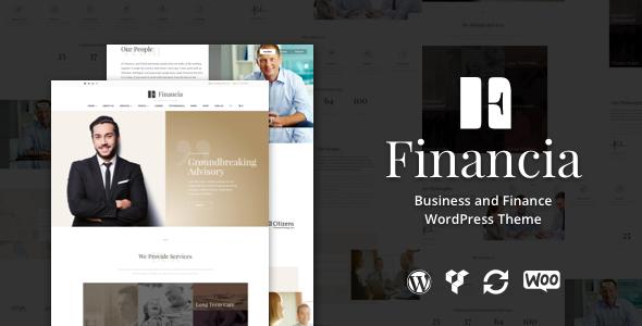 Financia - قالب وردپرس کسب و کار و سرمایه گذاری
