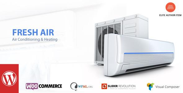 قالب FreshAir - قالب سایت گرمایش و تهویه هوا